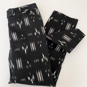 White House Black Market pattern slim ankle pant
